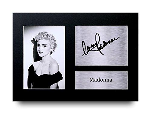 Madonna Los Regalos Firmaron A4 la Dedicatoria Impresa Música La Foto de Impresión Imagina la Demostración