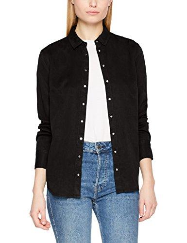 Calvin klein jeans regular shirt tencel ls, camicia donna, nero (ck black 099), x-small