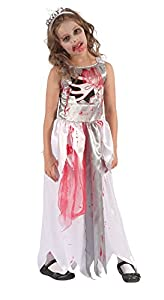 Bristol Novelty CF070 Traje Reina Sangrienta Zombie, Mediano, 122-134 cm, Edad aprox 5-7 años