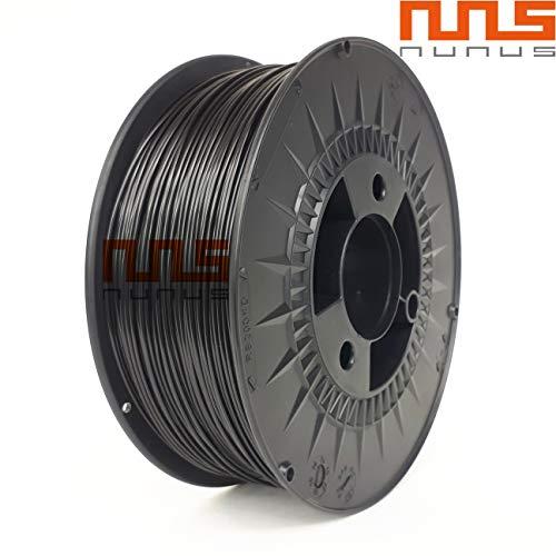 NuNus Asa filamento para impresora 3d material filamento de 1,75mm, resistente a los rayos UV Resistente al calor material, Negro, 0