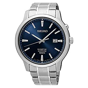 Seiko Mens Analogue Kinetic Watch with Stainless Steel Strap SKA751P1