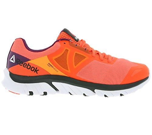 Reebok Donna Zstrike Run scarpe sportive Rosso / Arancione / Bianco / Porpora (Atomic Red/Electric Peach/White/Celest O)
