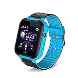 Intelligente Uhr der Kinder GPS-Ortung Geeignet Für Kinder, Jungen, Mädchen Bluetooth-Verbindung Card Kommunikation Fitness-Uhr Wasserdicht Staubdicht SOS Für Hilfe Watch,Blue