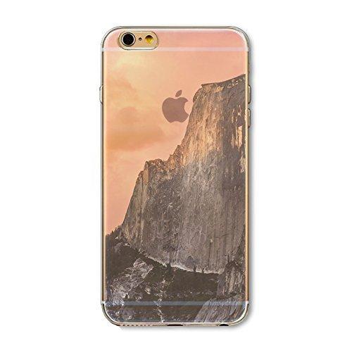 Coque iPhone 7 Housse étui-Case Transparent Liquid Crystal en TPU Silicone Clair,Protection Ultra Mince Premium,Coque Prime pour iPhone 7-Paysage-style 6 9