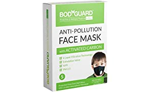Bodyguard Reusable Anti Pollution Face Mask with Activated Carbon, N99 + PM2.5 for Kids - Small