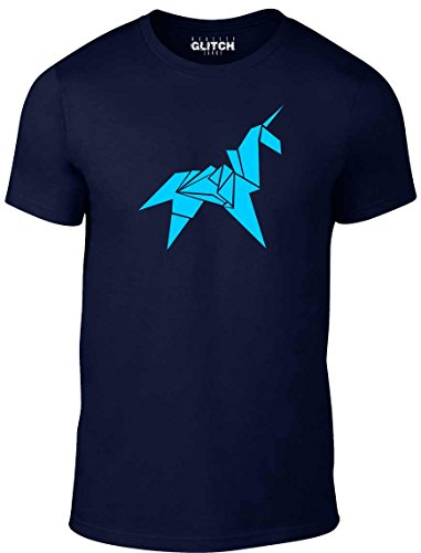 Bullshirt's Men's Origami Unicorn T-Shirt (T-shirt Blade-herren)
