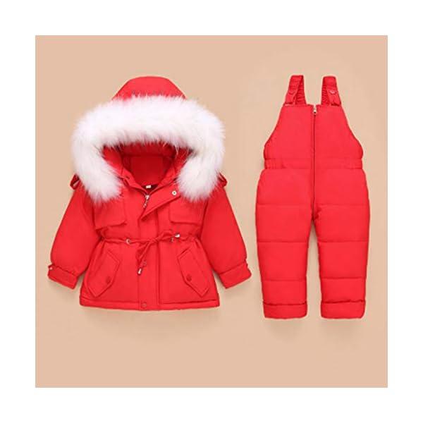 Traje De Esquí para Niños, Chaqueta De Invierno para Niños Y Traje De Esquí con Babero De Nieve Abrigo De Nieve De Dos… 2