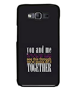 PrintVisa Designer Back Case Cover for Samsung Galaxy E5 (2015) :: Samsung Galaxy E5 Duos :: Samsung Galaxy E5 E500F E500H E500Hq E500M E500F/Ds E500H/Ds E500M/Ds (Gonna Together)