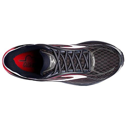Brooks Transcend 4, Chaussures de Course Homme Schwarz (Black/anthracite/toreador)