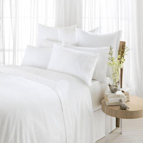 Parure de lit 100% coton égyptien avec taie d'oreiller T400 fils au pouce carré