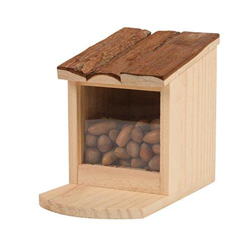 Gardigo Eichhörnchen Futterstelle | Futterbar, Futterhaus, Futterspender zum Aufstellen oder Aufhängen