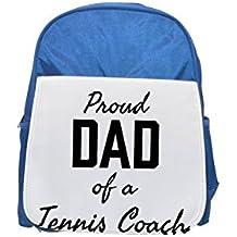 Proud Dad of a tenis Coach Printed Kid 's Blue Backpack, Cute de mochilas, Cute Small de mochilas, Cute Black Backpack, Cool Black Backpack, Fashion de mochilas, large Fashion de mochilas, Black Fashion backp