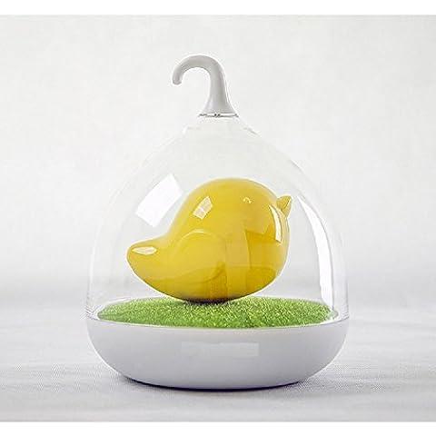 XJoel lampada ricaricabile rilevamento giallo creativo intelligenti uccelli luci a LED chiave della gabbia, dormire in Wonderland