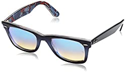 Ray-Ban Gradient Square Unisex Sunglasses - (0RB214011984O50|50|Mirror Gradient Blue)