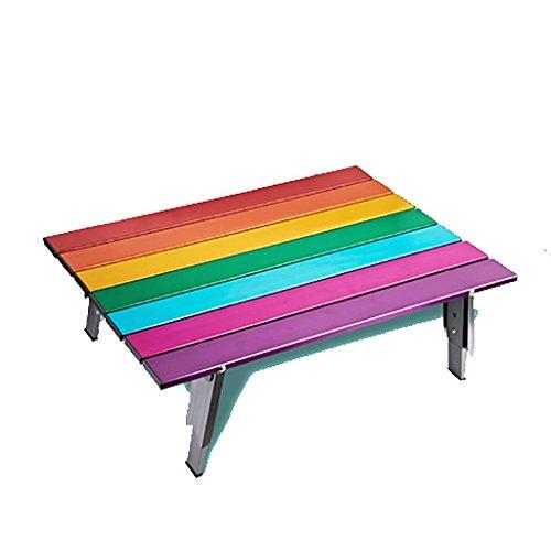 @LIU-tavoli pieghevoli in alluminio portatile tavoli barbecue all'aperto tabelle arcobaleno
