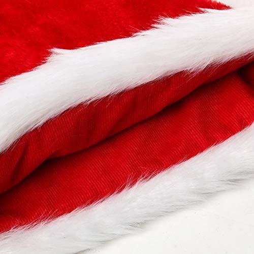 Cusfull Cappello di Babbo Natale Peluche 09c349f2eb4d