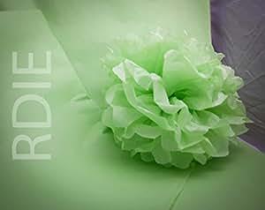 24 feuilles de papier de soie Vert Pastel, 50x75cm, 18 grs