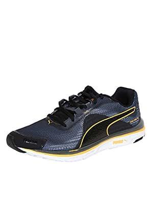 Puma Men's Faas 500 V4 Weave Black, Asphalt and Orange Pop Running Shoes - 6 UK/India (39 EU)