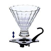 Tradico® reusable glass coffee dripper set home coffee brewing tools coffee drip maker bpa free box packing