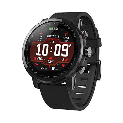 Xiaomi Unisex-Erwachsene Mi Amazfit Stratos 2 Smartwatch Eu/D Version Fitnesstracker, Schwarz, Einheitsgröße
