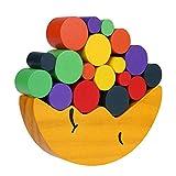 Bilanciamento in legno Blocchi giocattolo Toy Puzzle Block Building Gioco educativo accatastamento giocattoli Cooperativa capacità di sviluppo Gioco Giocattoli Set Montessori Giocattoli per bambini Co