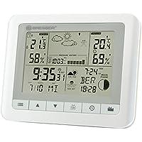 Bresser 7007500GYE000 Funkwetterstation TemeoTrend WF mit Wecker, Wettervorhersage, Außensensor und vielem mehr - weiß