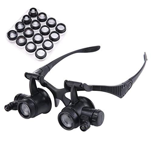 Bestting Assistierte Leselupe, 2,5 X ~ 25X Headset-Brille Typ Vergrößern der Spiegel, Frame-Typ-Lesebrille