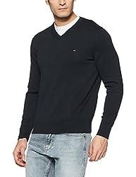 Tommy Hilfiger Mens Cotton Sweater (8907504769551_A7AMS154_M_Sky Captain)