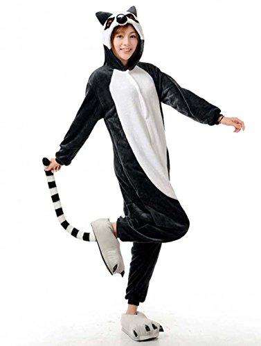 Kostüm Giraffe Anime - Venaster Pyjamas Damen Aus catta Meerkatze Erwachsene Unisex Animal Cosplay Overall Pajamas Anime Schlafanzug Jumpsuits Spielanzug Kostüme