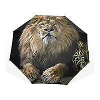 XiangHeFu Umbrella Male Lion Portrait 3 Folds Lightweight Anti-UV
