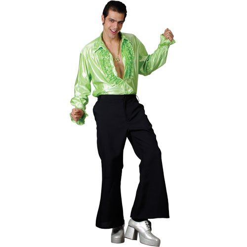 70s Style Flared Trousers for Men. Ideal for retro disco dress-up.