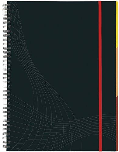 AVERY Zweckform 7024 Notizbuch notizio (A4, Hardcover, Doppelspirale, liniert, 90 g/m²) 90 Blatt, dunkelgrau