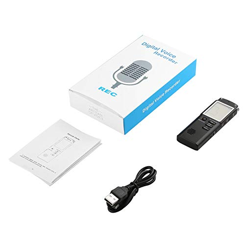 Yao Digital Voice Sound Recorder Dictaphone 8GB Audio Recorder Noise Reduction
