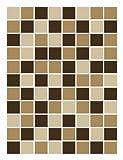 FoLIESEN Fliesenaufkleber für Bad und Küche - 15x20 cm - Mosaik beige-braun - 10 Fliesensticker für Wandfliesen