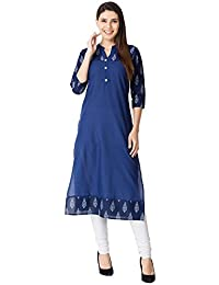 M&D 3/4 Sleeve Casual Wear Pure Cotton Printed Women's Kurti