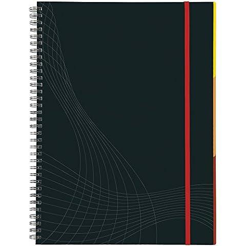 Avery  7024 - Cuaderno (tamaño A4, tapas duras, con espiral, lineado, 90 páginas), color gris