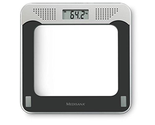 Medisana PS 425 sprechende digitale Personenwaage bis 180 kg - Körperwaage zur Messung des Gewichts -Badezimmerwaage mit Glasoberfläche und Sprachausgabe - 40448 (Sprechende Personenwaage)