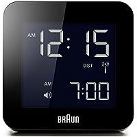 Braun BNC009BK-RC Alarm Clock Global Radio Controlled, Plastik, Black, 8 x 8 x 5.8 cm