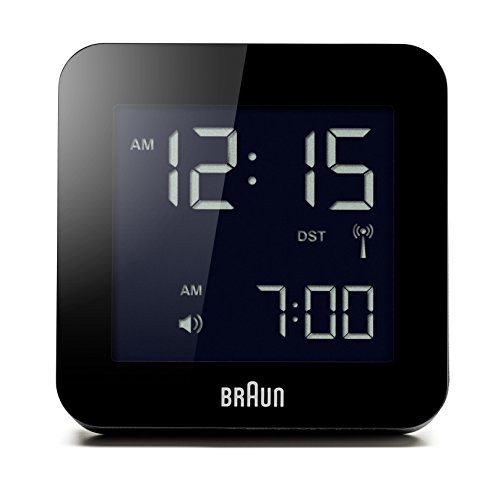 Braun Alarm Clock Global Radio Controlled, Plastik, black, 8 x 8 x 5.8 cm, 1 Einheiten