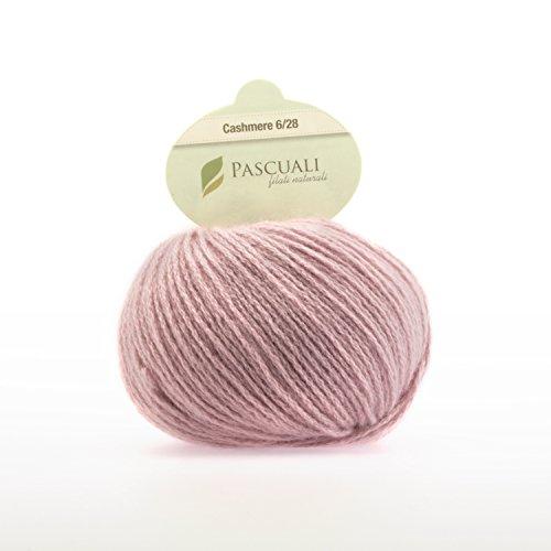 25g Pascuali Cashmere 6/28 Wolle Strickwolle aus 100% Kaschmirwolle. Ein edles Kaschmir Garn zum Stricken der Extraklasse., Farbe:Rosé 603 (Cashmere Wolle 10%)