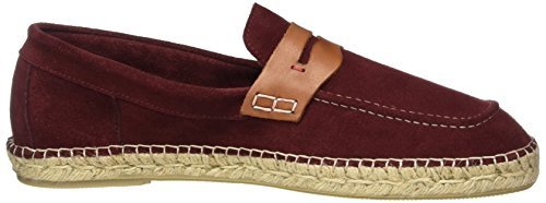 Hudson London Herren Juan Suede Loafer Rot (Burgundy)
