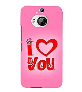 Fiobs Designer Back Case Cover for HTC One M9 Plus :: HTC One M9+ :: HTC One M9+ Supreme Camera (Love Dots Lovely Beautiful Pink)
