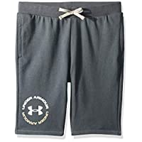 Under Armour Boy's Rival Terry Shorts SHORTS, Grey (Pitch Gray/white), Small