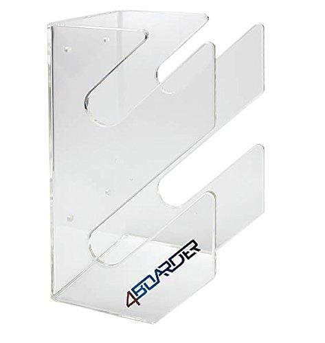 4boarder DOUBLE sujetador fijación soporte de pared para 2 tablas de wakeboard, snowboard, kiteboard, longboard, skateboard, wakeskate, skimboard