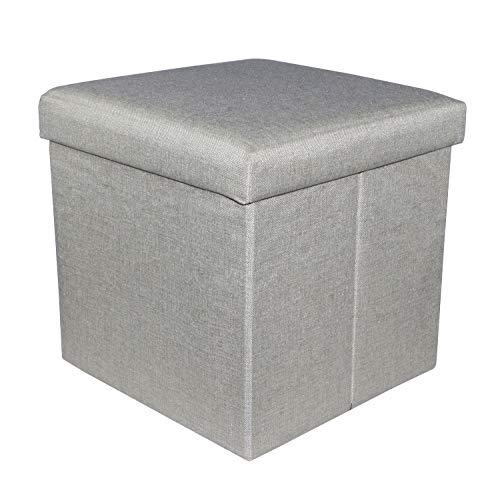 Puf contenedor plegable de sint/ética 32/x 32/x 60/cm