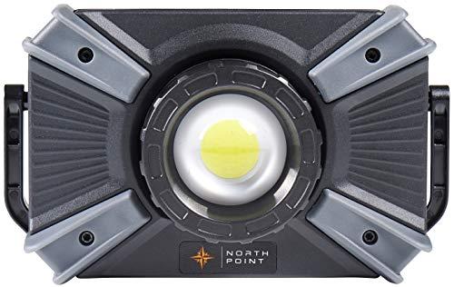Northpoint LED Arbeitsleuchte Strahler Arbeitslampe Baustrahler Akku 4400mAh aufladbare flexibel & dimmbar ideal für Baustelle Werkstatt Garage