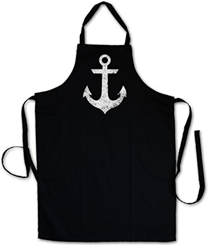 Tattoo Nautical Stars (Urban Backwoods Oldschool Anchor Vintage Logo II GRILLSCHÜRZE KÜCHENSCHÜRZE KOCHSCHÜRZE SCHÜRZE - Anker Nautical Star Tattoo)