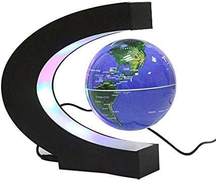 LPYMX Globe lévitation magnétique magnétique magnétique en Forme de C 3 Pouces Bleu lumière Bureau décoration Cadeau étudiant | Bon Marché  7d3f5b