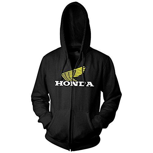 Unbekannt Honda Mens Wing Hoody Zip Sweatshirt/Sweater Honda Zip Hoody Sweatshirt