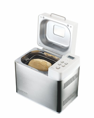 Kenwood BM256 - Máquina de hacer pan, 480 W, 345 x 250 x 310 mm, color blanco y plata